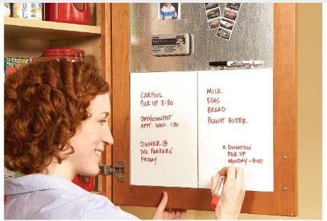 Instructions at  The Family Handyman