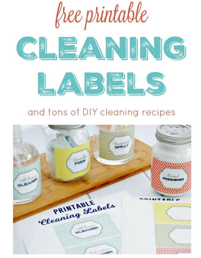 Jessica at Mom 4 Real also made some free printable cleaning labels. Go  here  for her blog that has more homemade cleaning recipes and the labels and  here  for the pdf of the printable labels. THANK YOU Jessica!!