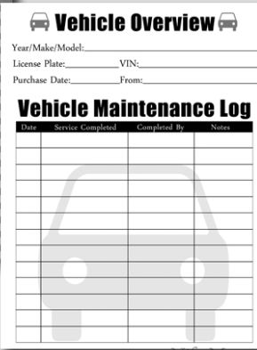 Go  here  for the pdf and  here  for her blog post on her vehicle document binder