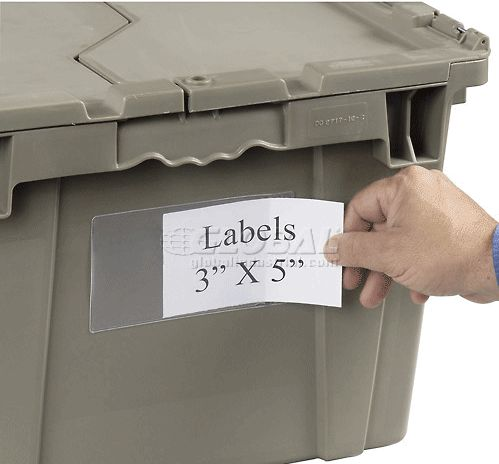 For a 3x5 label holder go to   global industrial