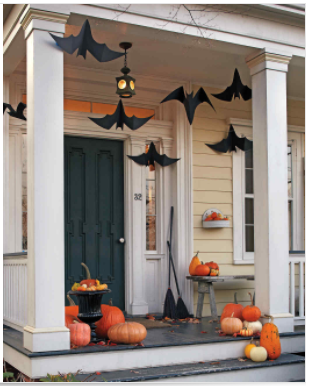 Thanks again to  Martha Stewart  for bringing the bats to your Halloween porch!