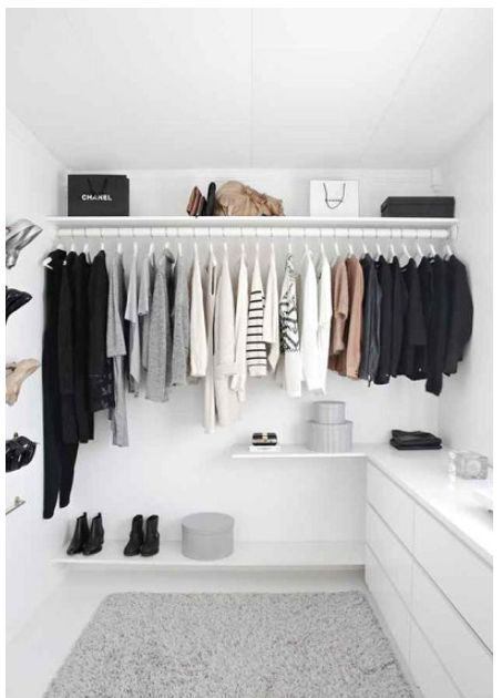 Although this closet has been staged for this photo, you can definitely feel how peaceful it is to have an organized closet!!  pinterest
