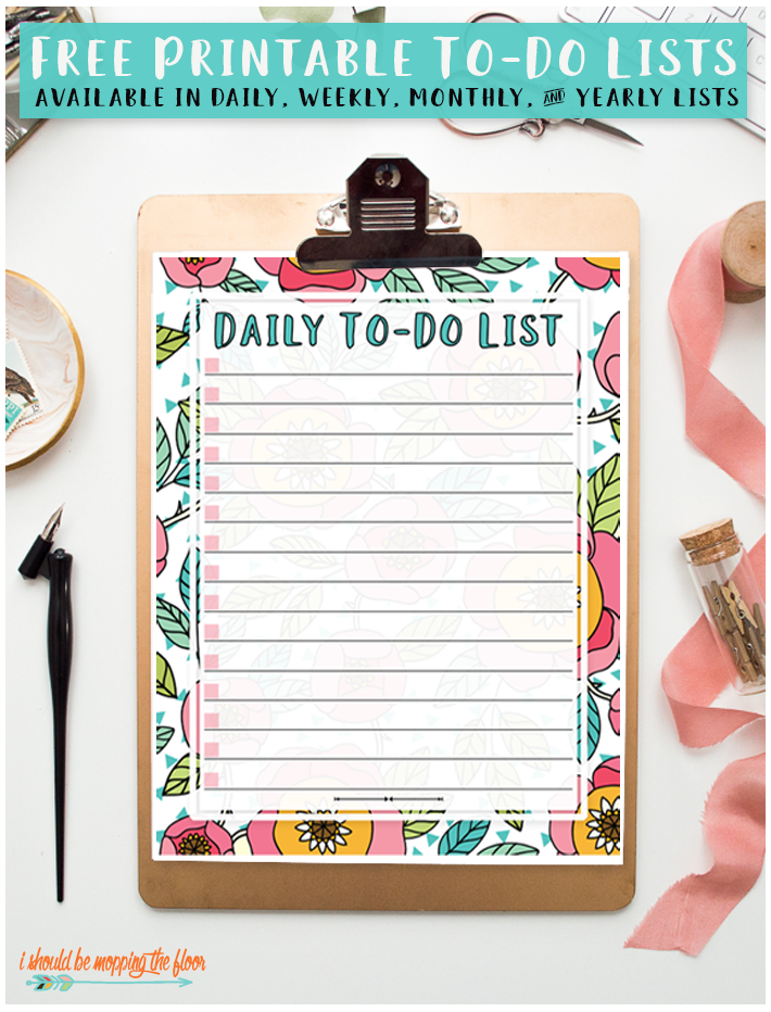 picture about Printable to-do List identified as Totally free Printable Towards-Do Lists!! Establish Property Storage