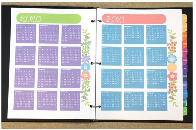 yearly calendars