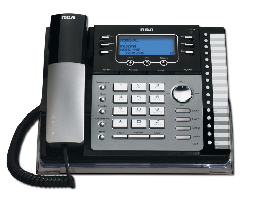 4 line small business system desk phone rca by telefield. Black Bedroom Furniture Sets. Home Design Ideas