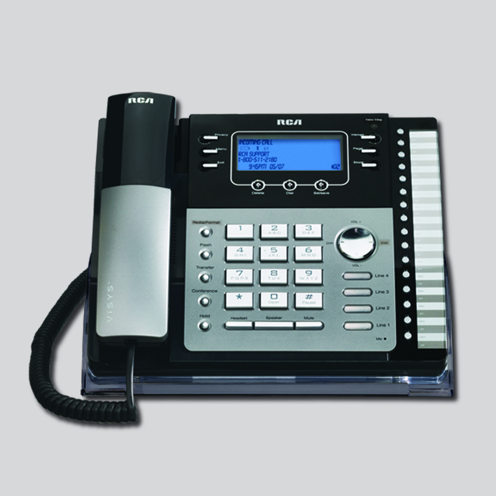 4 line small business system desk phone with caller id rca by rh rca4business com RCA Home Theater Owners Manual RCA 5 CD Changer Manual