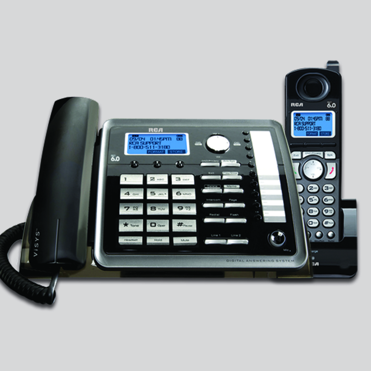 2 Line Corded Cordless Phone Rca By Telefield