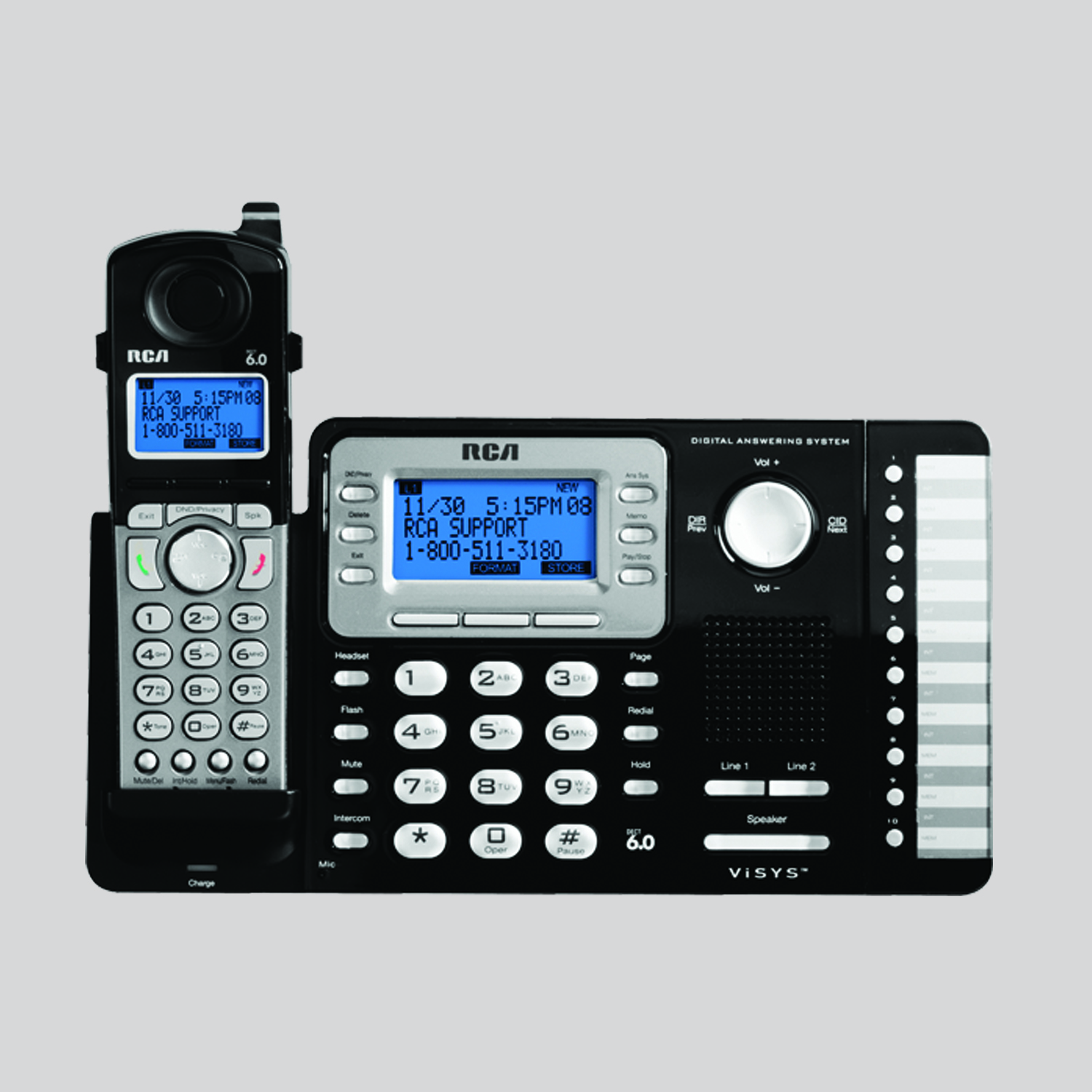 2 line cordless accessory handset does not work separately rca rh rca4business com rca 25255re2 telephone manual RCA Home Theater System