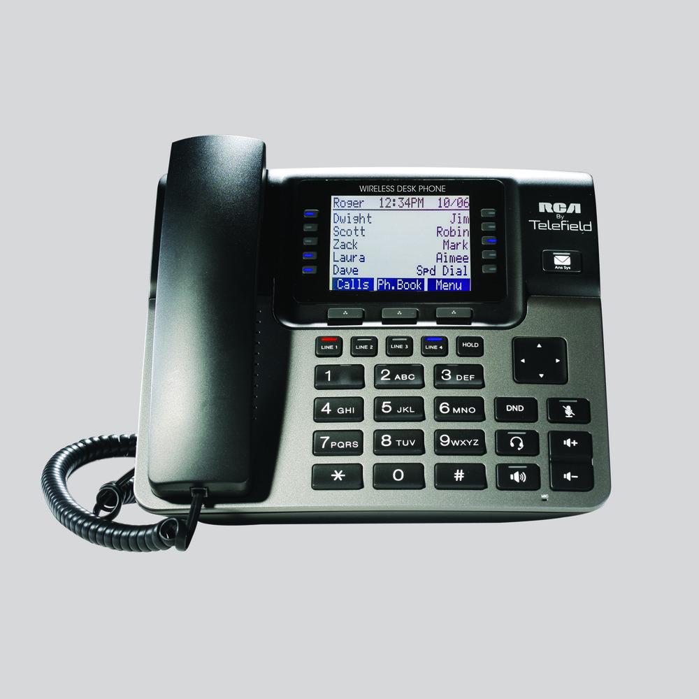 u1100 4 line unison wireless desk phone rca by telefield rh rca4business com rca 4 line phone system manual rca visys 4 line phone user manual