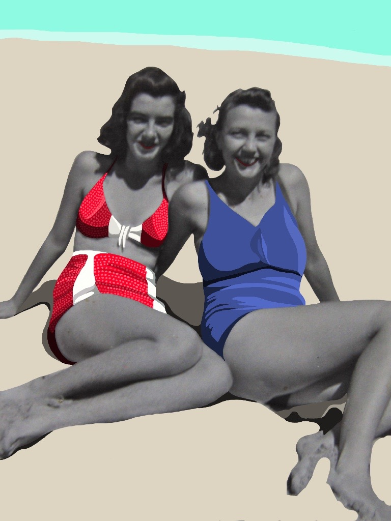 beach babes, 1940s (inquire for price)