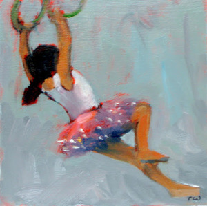 Ballerina on the Trapeze - Sold