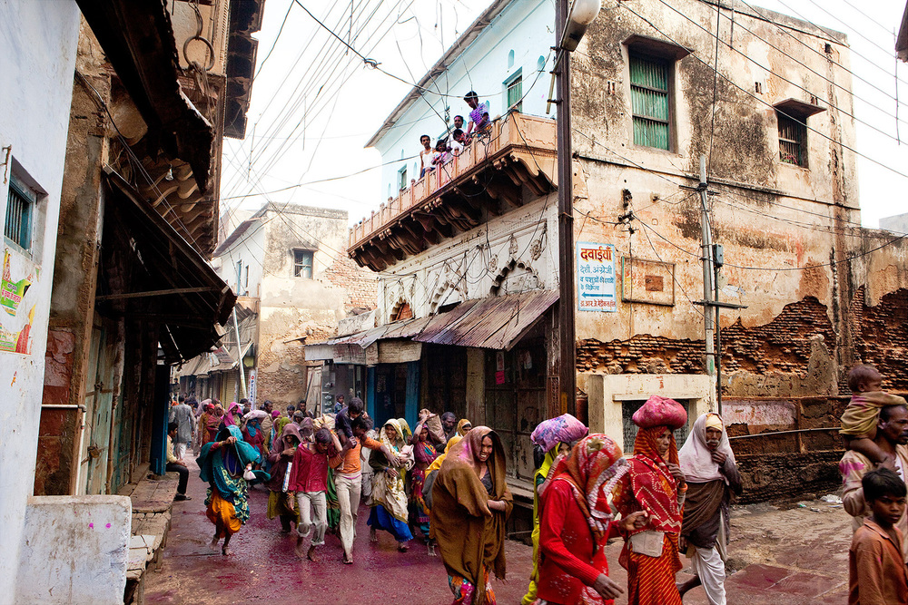 Vrindavan India, Holi festival India