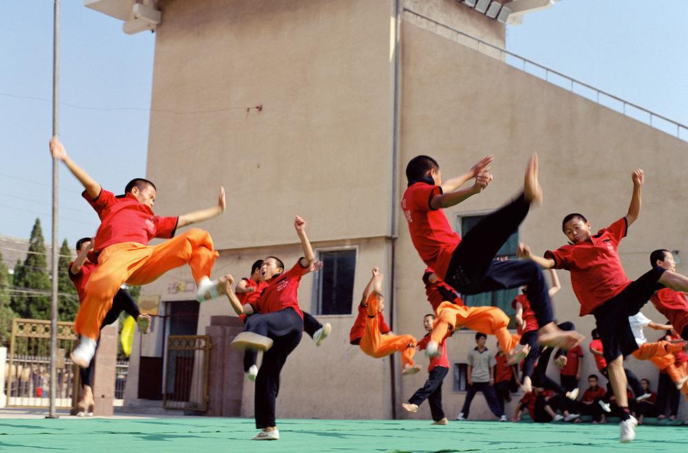 China, Shaolin kung fu students, Henan province