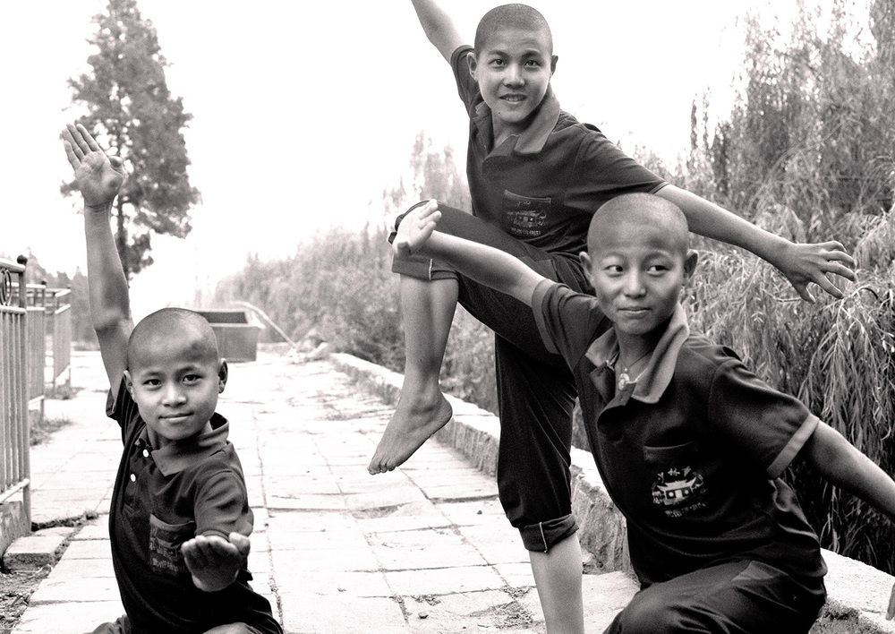 China, Shaolin kung fu students, Henan province