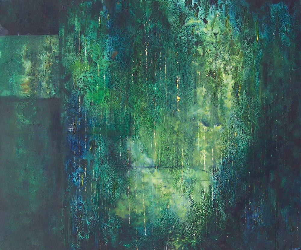 'Green III' Joanna Rojkowska 61cm x 50cm Oil on Canvas £1,000