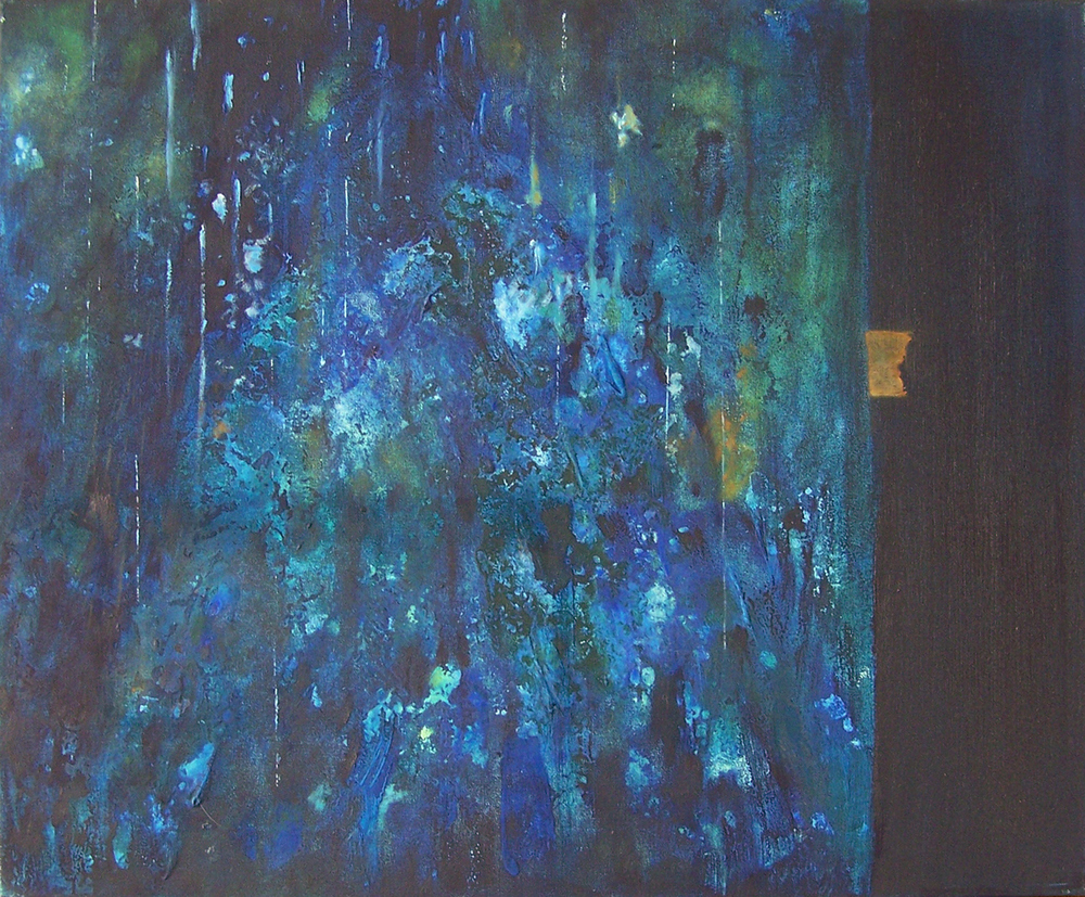 'Blue II' Joanna Rojkowska 61cm x 50cm Oil on Canvas £1,000