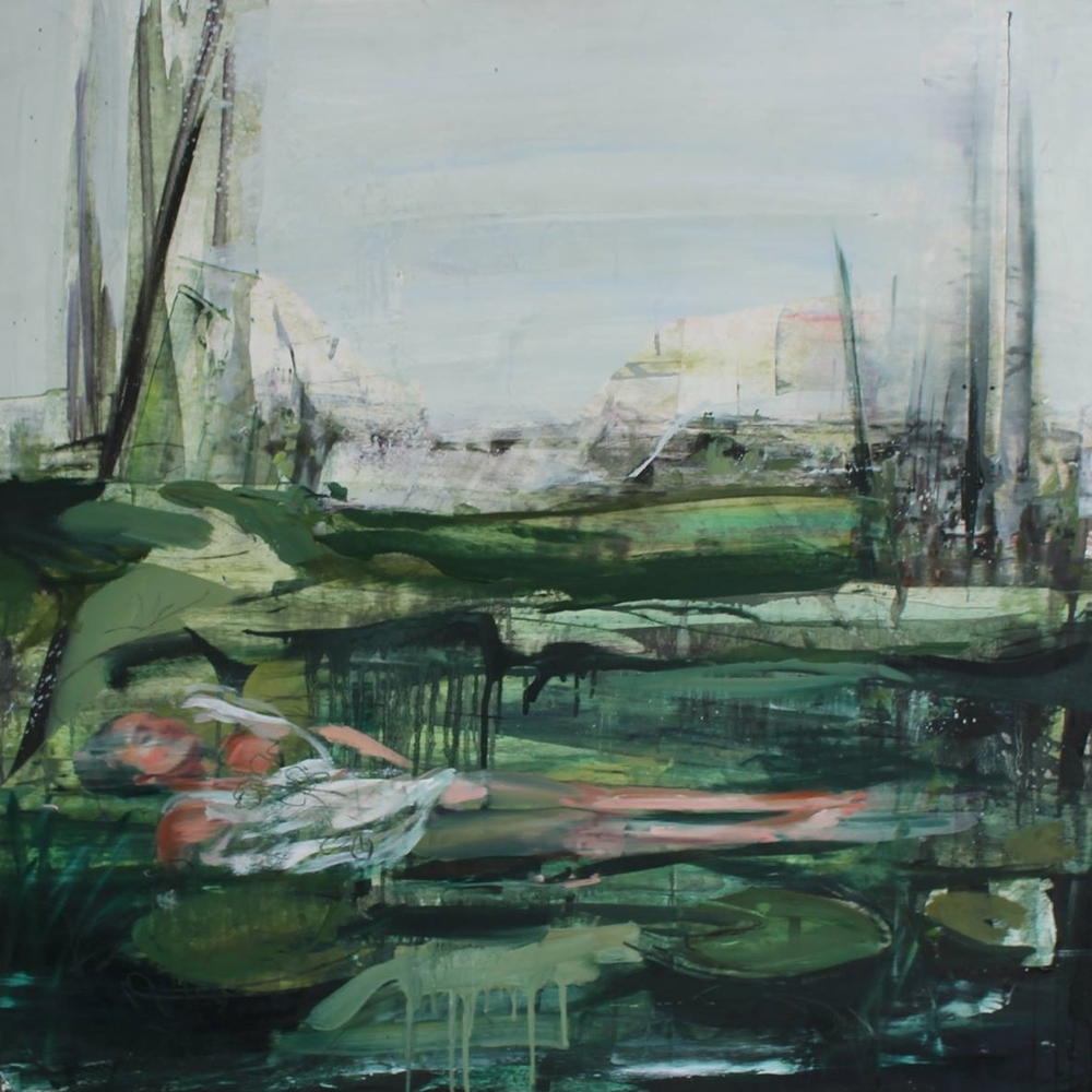 'SPT Creek II' Emma Fineman 91cm x 91cm Oil on wood £3,750