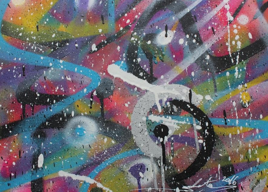 'Untitled II'   Zokatos  40cm x 30 cm  Spraypaint on Canvas  £360