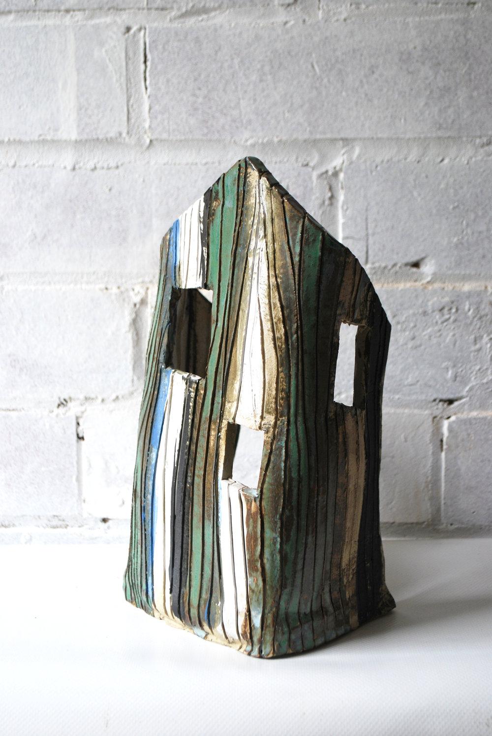 'Bulkhead'  Ceramic and Glazes  H 30cm W 15cm D10cm  £350
