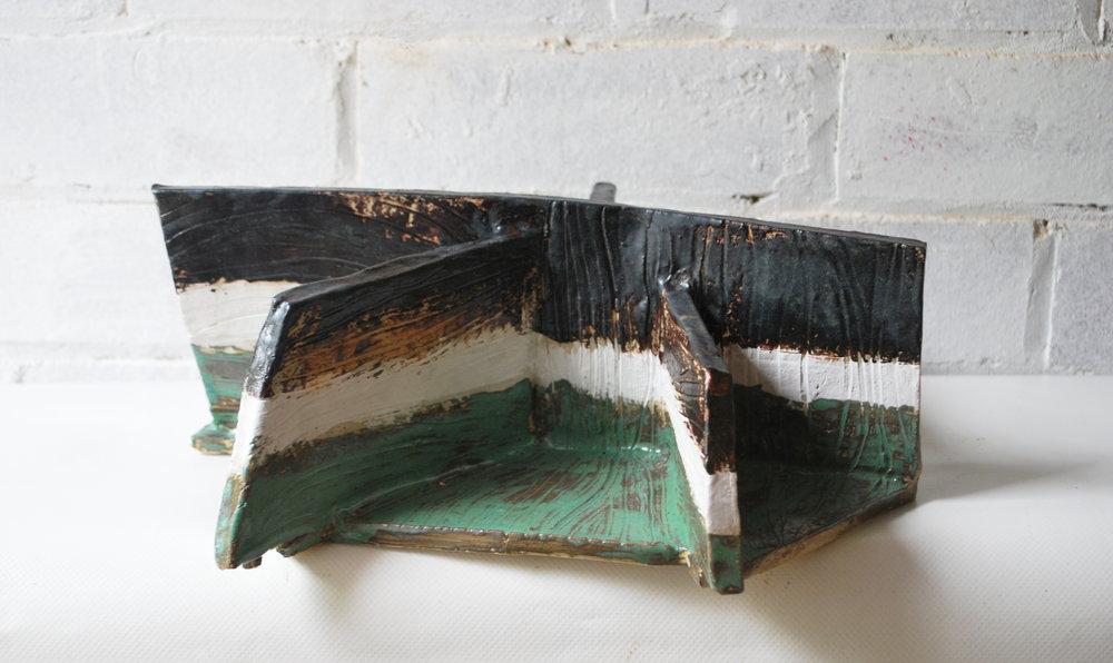'Upper Deck'  Ceramic and Glazes  H 95cm W 30 cm D 30cm  £350