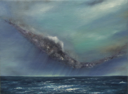 'Unexpected Storm'  (with Frame)    Oil on Linen  43cm x 33cm  2013    £650