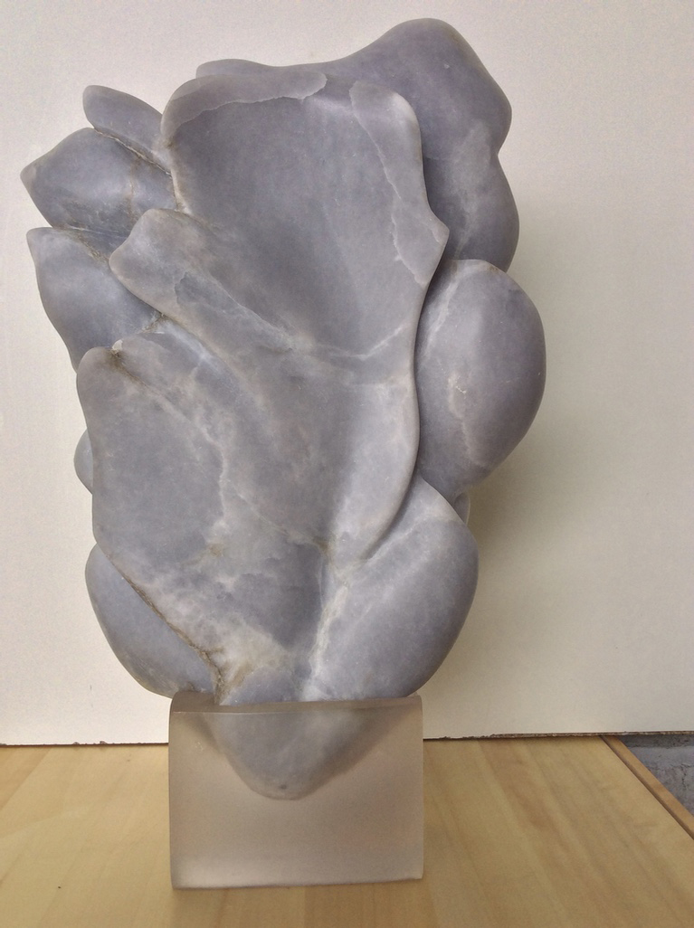 'Blue Vein' 2010 Blue Alabaster with Resin Stand 35cm x 6cm x 25cm  £1500