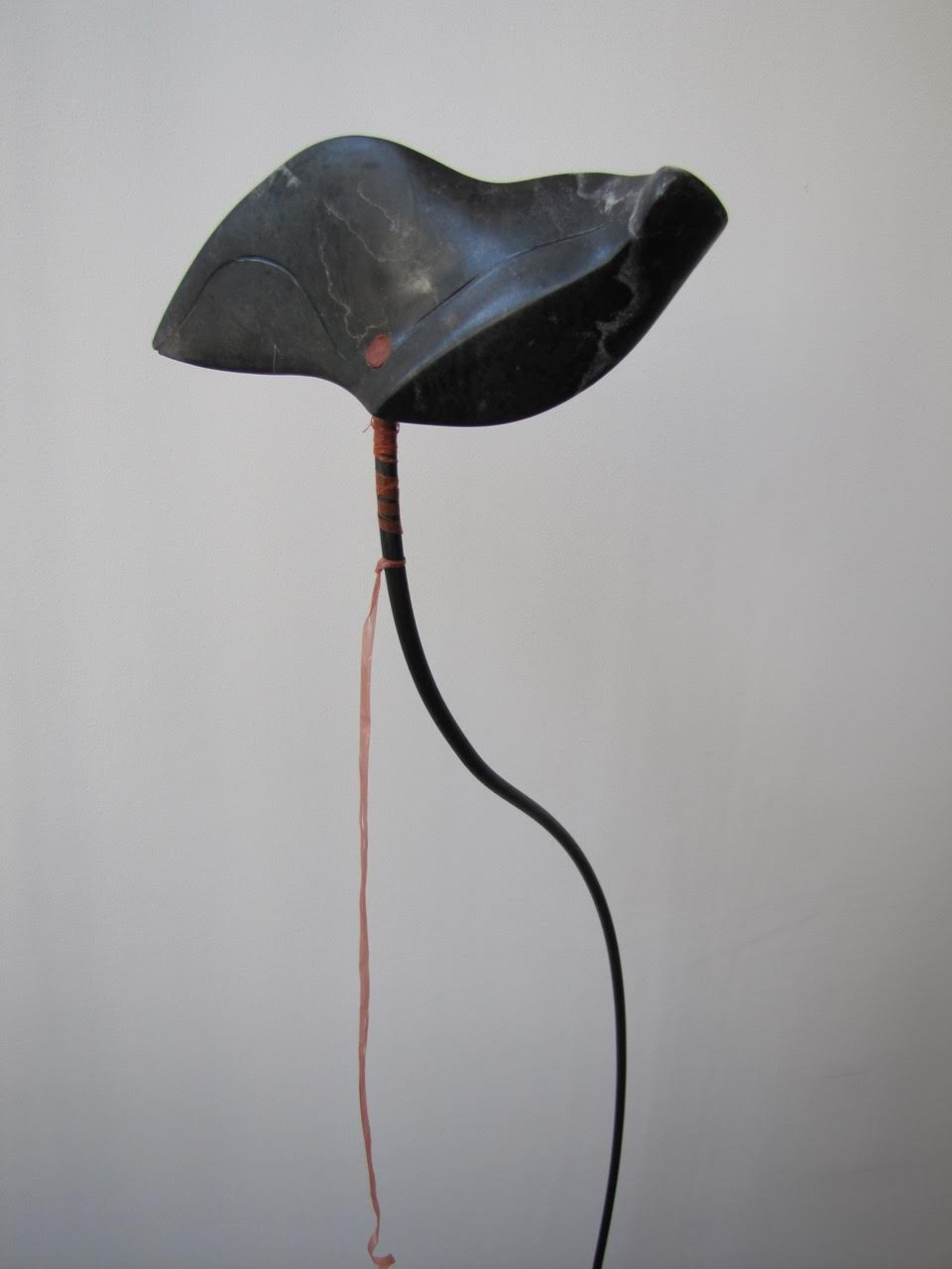 'Flight' 2012 Black Alabaster, pigment, wax 10cm x 15cm x 5cm Stand: steel - 135cm £175*