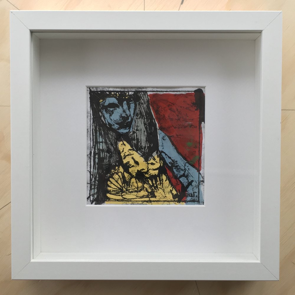 Framed Mixed Media  255x255mm  £225.00