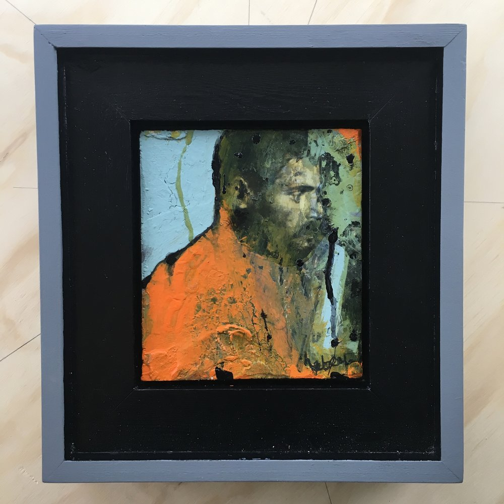 'Orange'  Framed Painting  280x300mm  £350.00