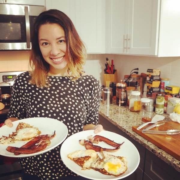 Bacon and eggs Sarah made me this morning, one of my favorite breakfasts! :)