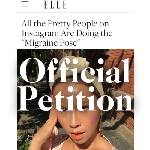 what is migraine pose instagram