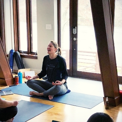 Meet Amber — Yoga Instructor, Health Coach, Reiki Practitioner & Voted Most Infectious Laugh of last retreat!  Learn more about her journey here .