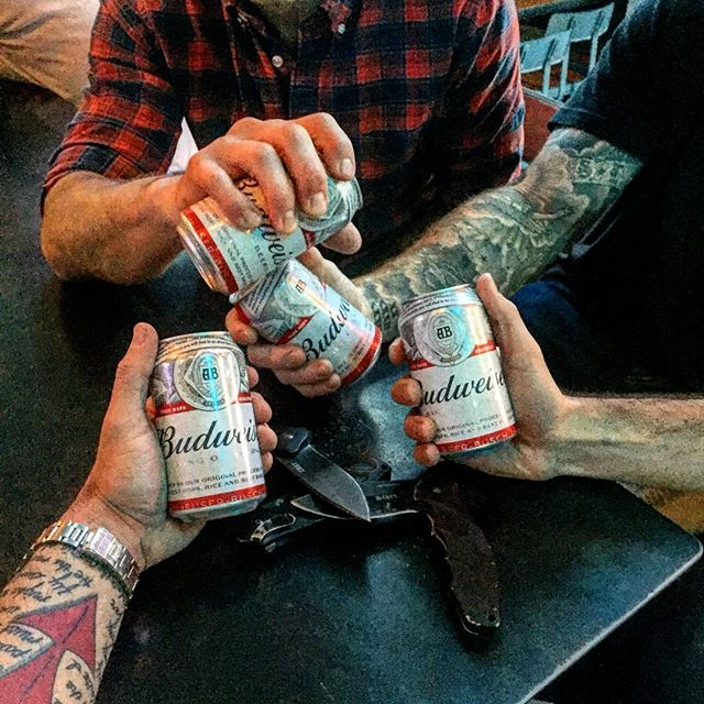 Since Bud is running a pro refugee ad for Super Bowl, we will do our part: starting tomorrow through Super Bowl, we will have Budweiser on tap. 100% of all dollars spent will be donated to the ACLU. This Bud's for you, you Orange fucking cunt. #ourcountrytoo #wefightforfreeasshole #ourbloodisntfree #americaisworthbelievingin #standuporgetout #nooneweknowdiedforshitlikethis #thisbudsforyou @budweiser #budweiser @maddiebrenneman