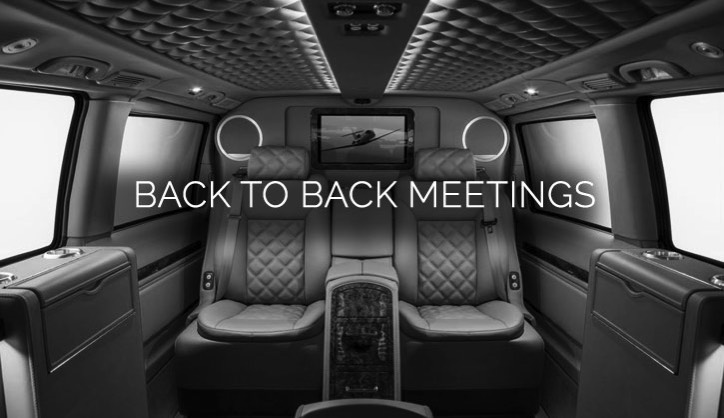 We helped a member who needed a way to make his working day more efficient. He needed to attend a number of meetings and get some work finished in time for a deadline.    We found him a chauffeur-driven, luxury office on wheels with wifi, a printer and computer screens. He was delighted with being able to work in between every meeting.