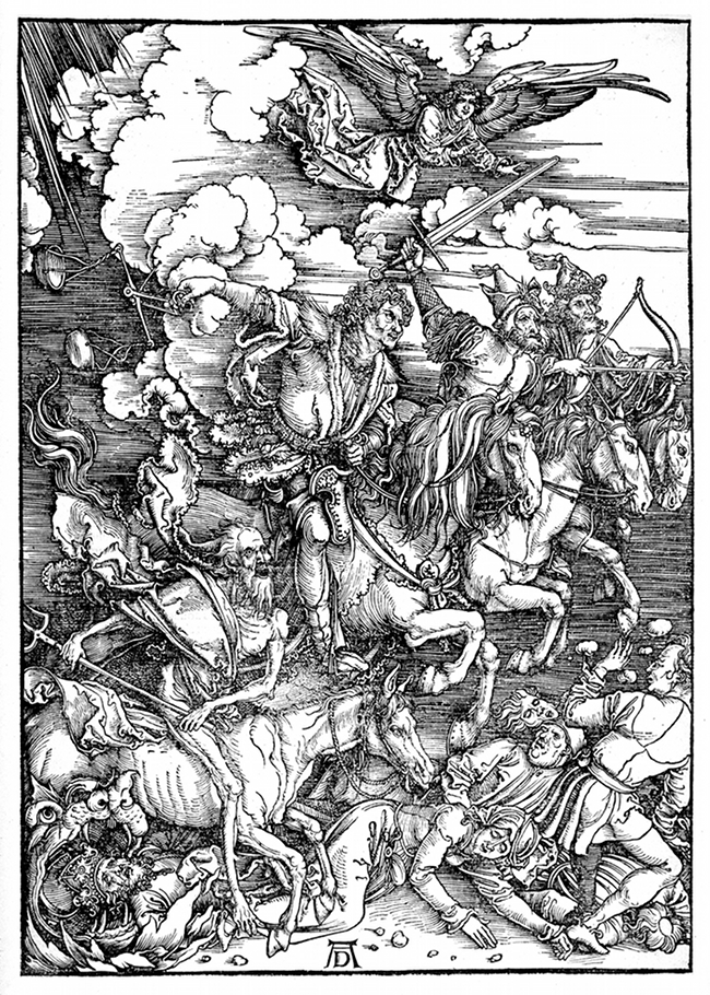 The Four Riders of the Apocalypse (1498) by Albrect Durer.jpg