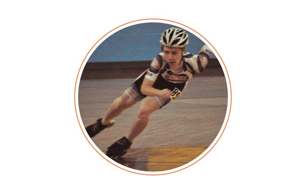 "Claim to fame? - Inline speedskating national medalist. I also won ""Adobe Design Wars"" in college.."