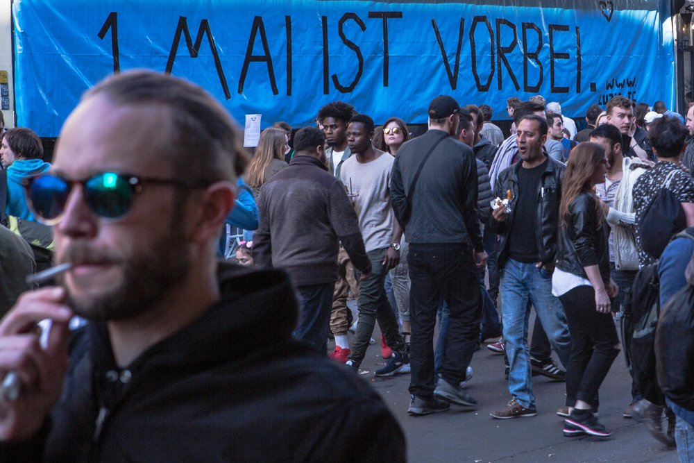 The 1st of May in Berlin has always been a day for workers to show resistance towards the system, but now most people are focusing more on drinking and having fun. 2016.