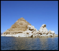 Pyramid and Stone Mother on East Side of Pyramid Lake
