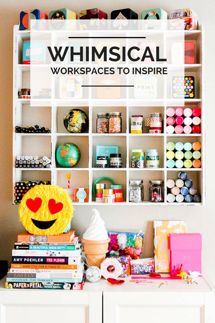 Colorful, whimsical workspaces of creative entrepreneurs to inspire!