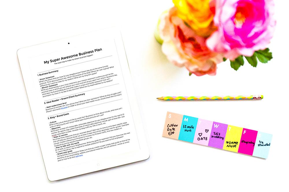 Free sample business plan template