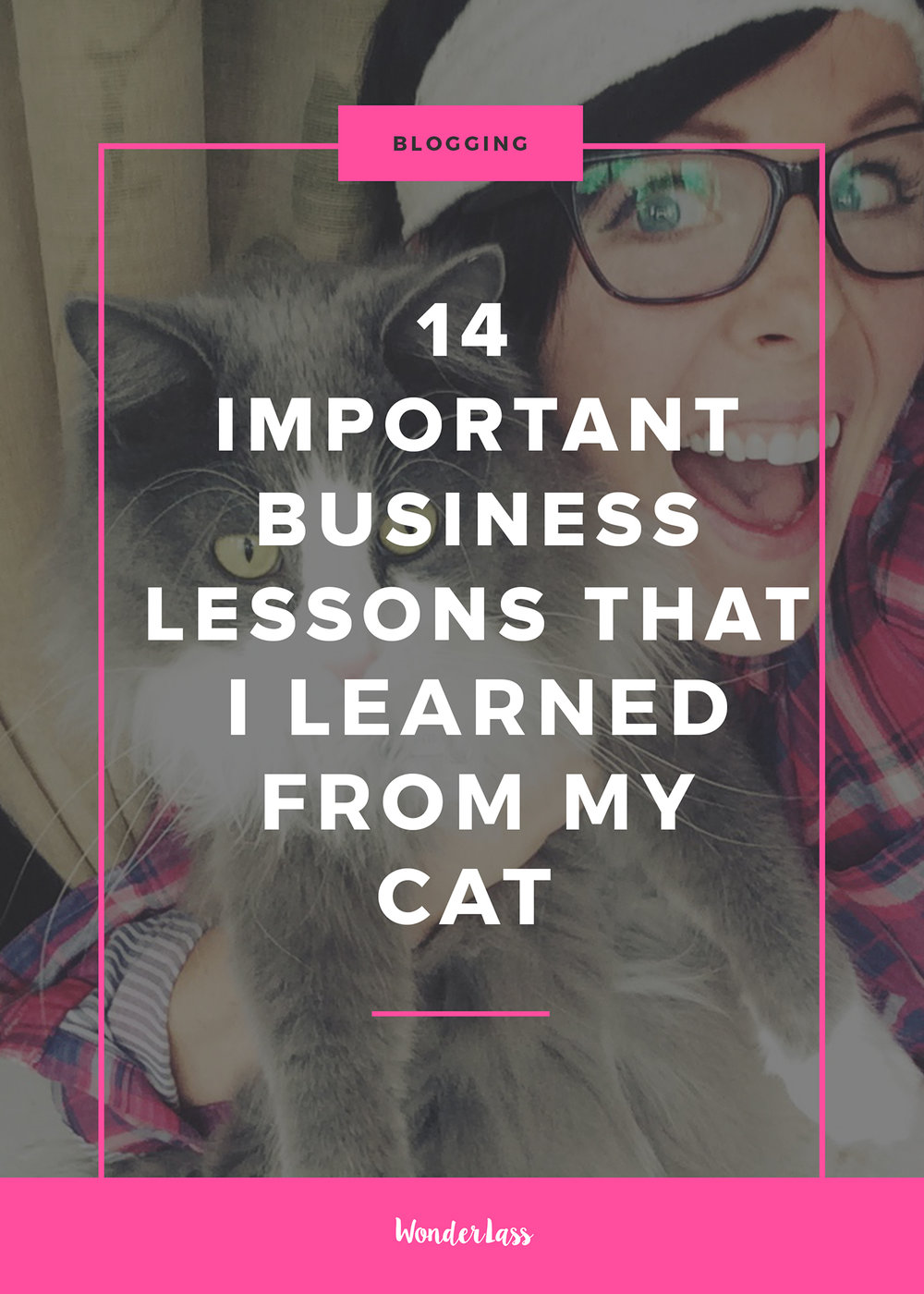 14 Very Important Business Lessons that I Learned From My Cat | Tips for creative entrepreneurs and bloggers who want to run an online business | Wonderlass