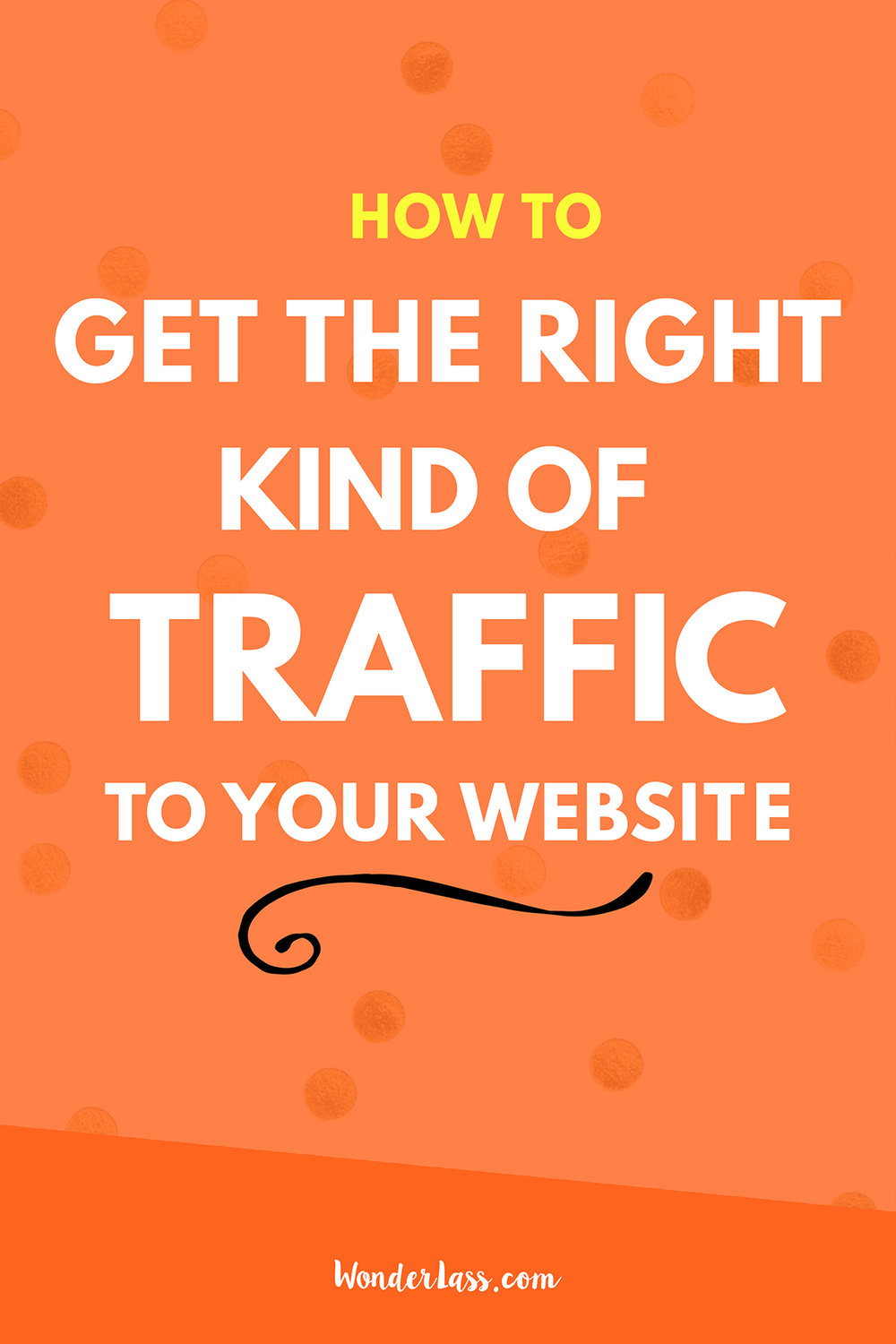 How to Get the Right Kind of Traffic to Your Website | Wondering how you can increase your website's traffic? Check out this blog post for how to get the RIGHT kind of traffic! | Wonderlass