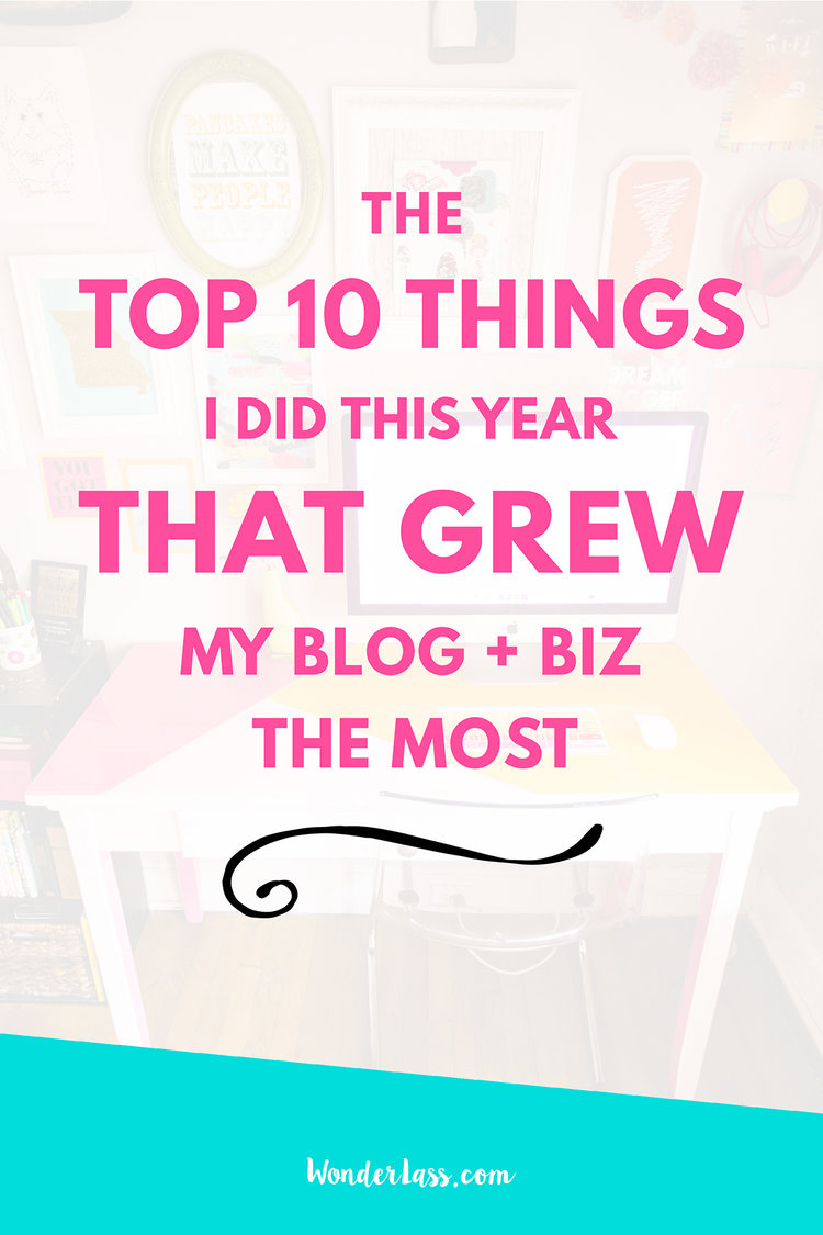 The Top 10 Things that Grew My Business the Most This Year | how to start and grow a profitable online business