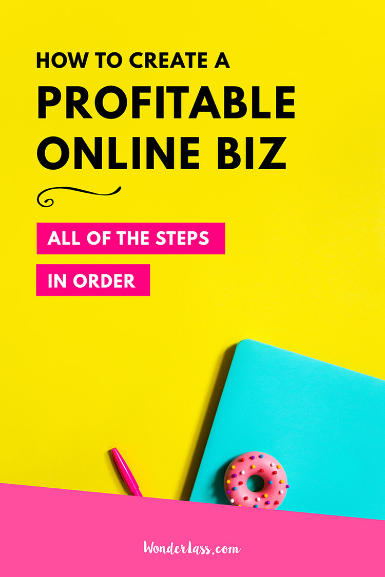 all of the steps to start and grow a profitable online business in order
