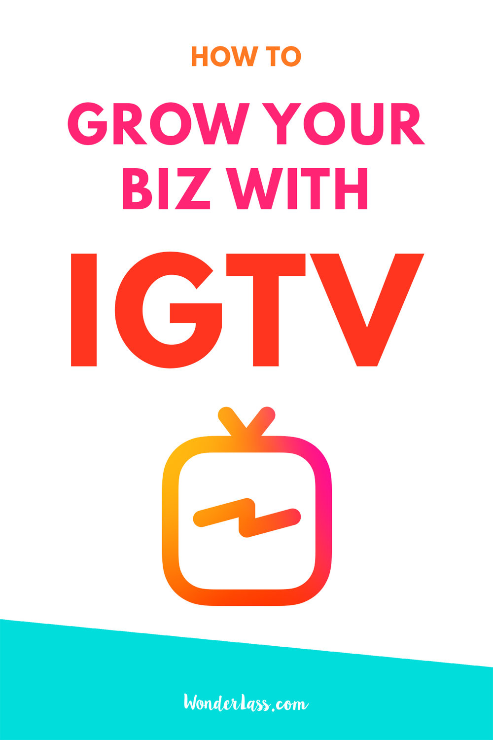 How to Grow Your Business With IGTV (Instagram TV) | Wonderlass  Ready to learn how you can leverage the new IGTV to do things like get more website traffic, grow your audience, make more sales and stand out online?  Then check out this blog post + video!  #IGTV #InstaTV #InstagramTV #passiveincome #makepassiveincome #videomarketing #growyouronlinebusiness #instagrammarketing #howtomakepassiveincome #howtouseIGTV
