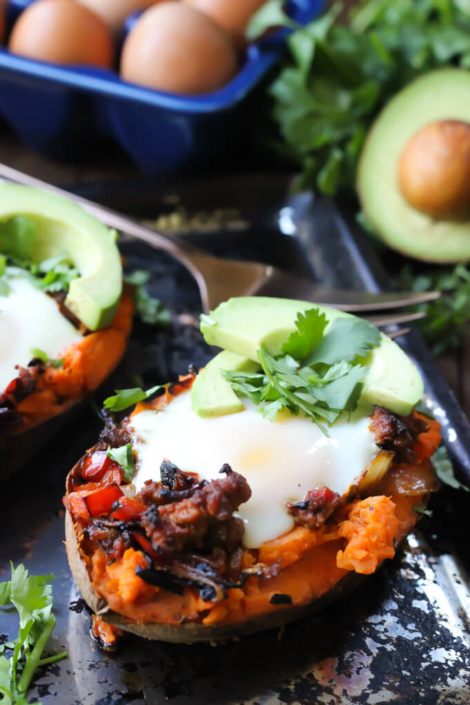 Sweet Potato Egg Boats / Wicked Spatula