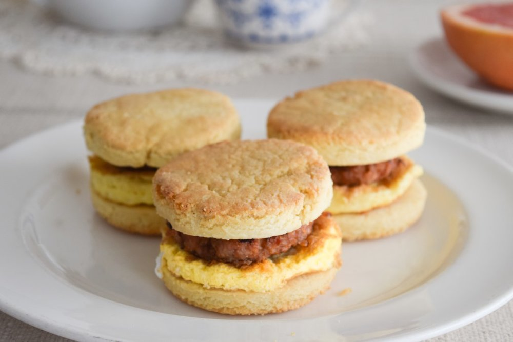 Sausage Egg Biscuits / Our Grain Free Life