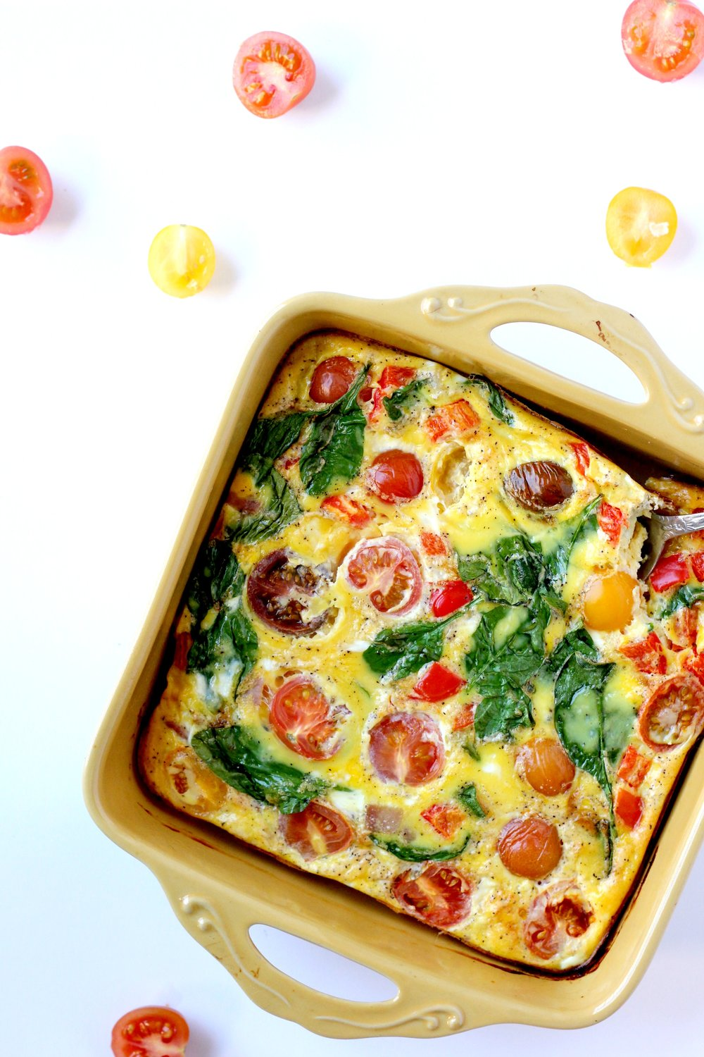 Frittata with Heirloom Tomatoes / Bravo for Paleo