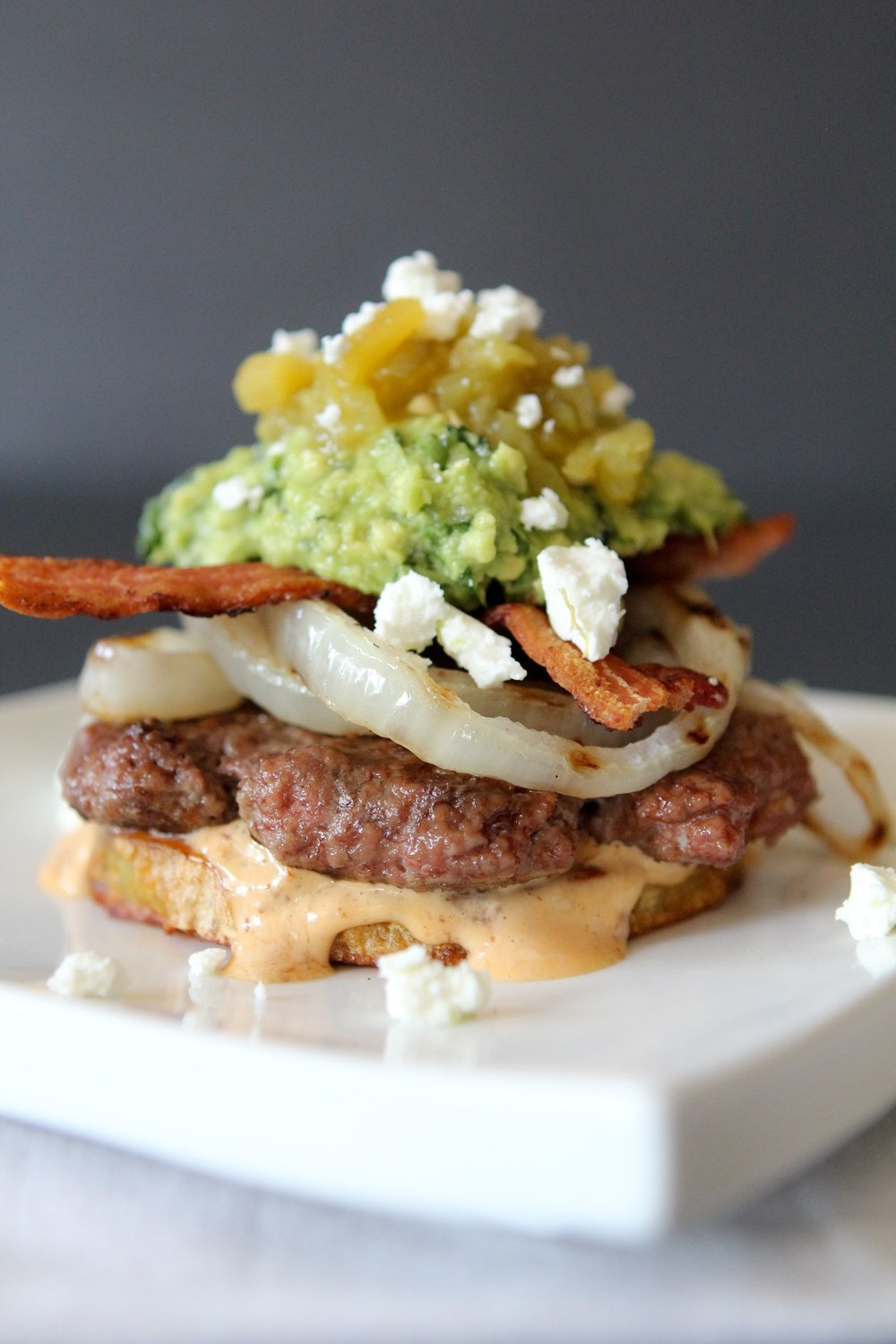 Green Chile + Chipotle Mayo Burger / The Whole Smiths