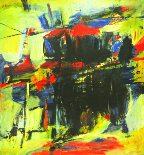 "Billie's Blues  , 1954, Oil on canvas, 68"" x 63"""